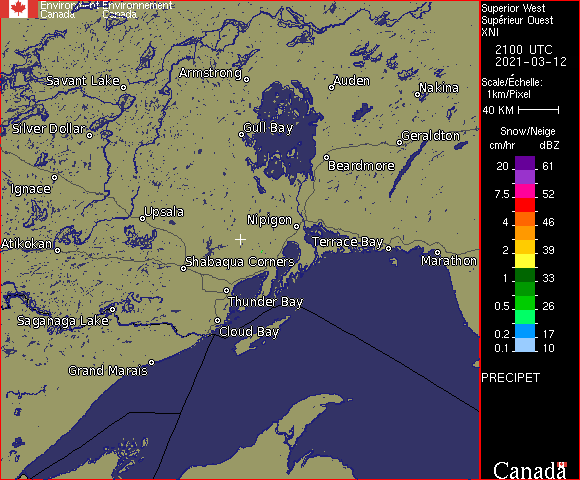 Weather Radar - Superior West, ON - Environment Canada