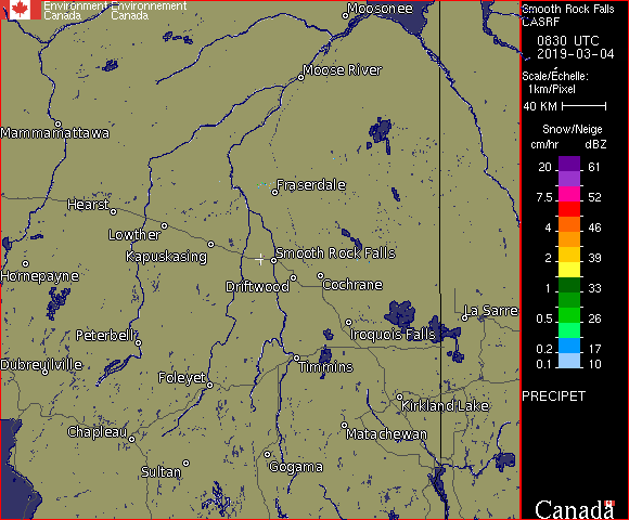 Weather Radar - Northeast Ontario, ON - Environment Canada